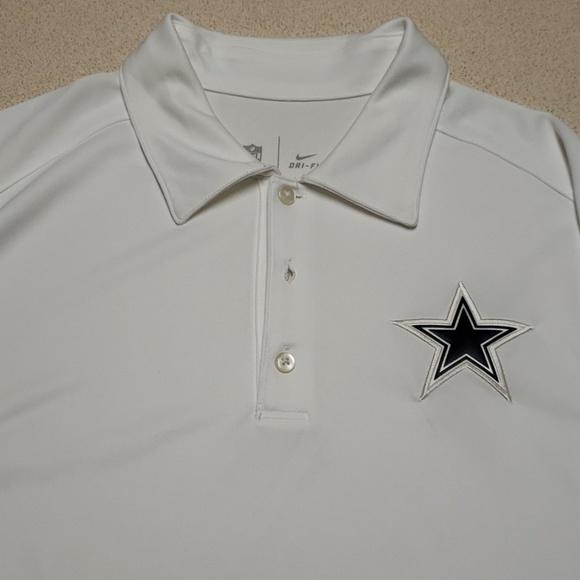 f7d2a52121 Nike Shirts   Cowboys White Drifit Ss Polo Shirt L   Poshmark